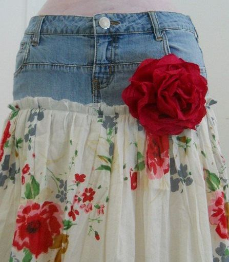 Give Up Jeans for Skirts andUpcycle