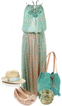 Turquoise and taupe