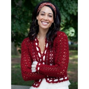 crochet red jacket