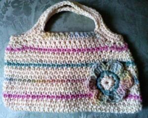 Yellow stripe spring bag
