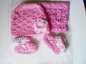 Pink Shell Baby Girl Set