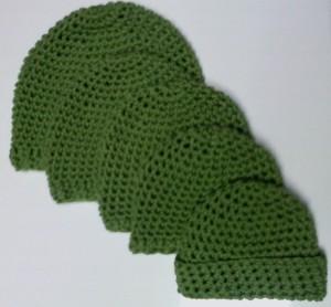single crochet kids beanies
