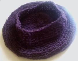 soft beret upside down