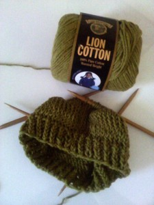 knitted hat on DPN
