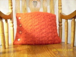 Crochet Side Button Pillow