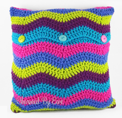 Ripple Crochet Pillow Cover