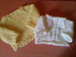 Knit Raglan Baby Sweaters