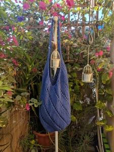 Knit Eyelet Bag